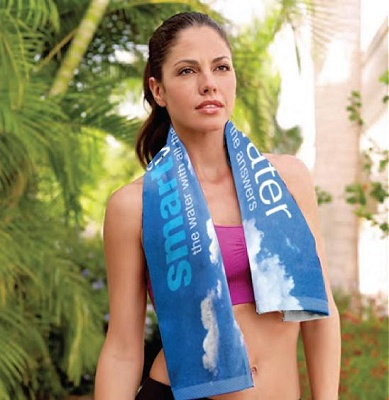 printed custom sports towels and fitness towels with your logo