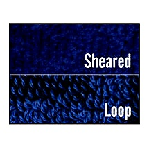 Sheared and loop terry towel