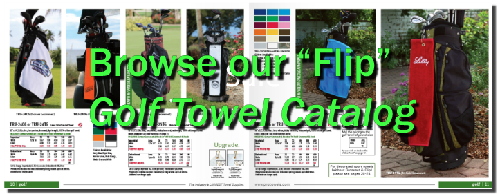 Custom Logo Golf Towels in Full Colo