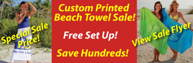white custom beach towels on sale