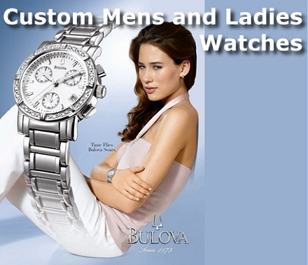 engraved company watch and logo promotional watch