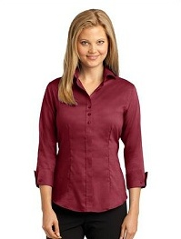 Ladies Custom Logo Dress Shirts